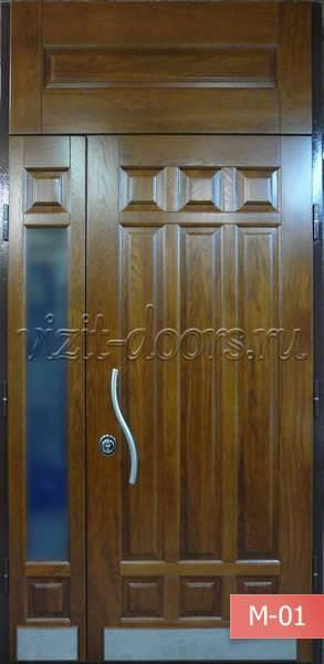 Входные стальные двери из массива дуба - Металлические